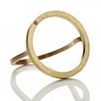Cosmos Plus Ring - Gold, 1 black diamond
