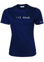 Dame T-shirt - I<3 #khsdk